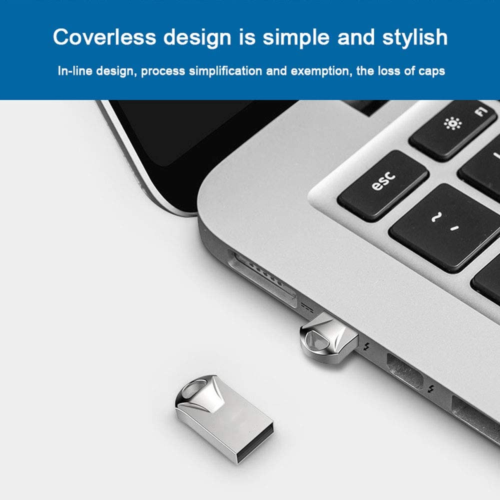 USB Flash Drive Compatible with Windows 98//Me//2000//XP//Vista//7//8//8.1//10 and Other Systems,8GB ZXGHS Car Mini U Disk USB 2.0 Metal Hook Memory Stick