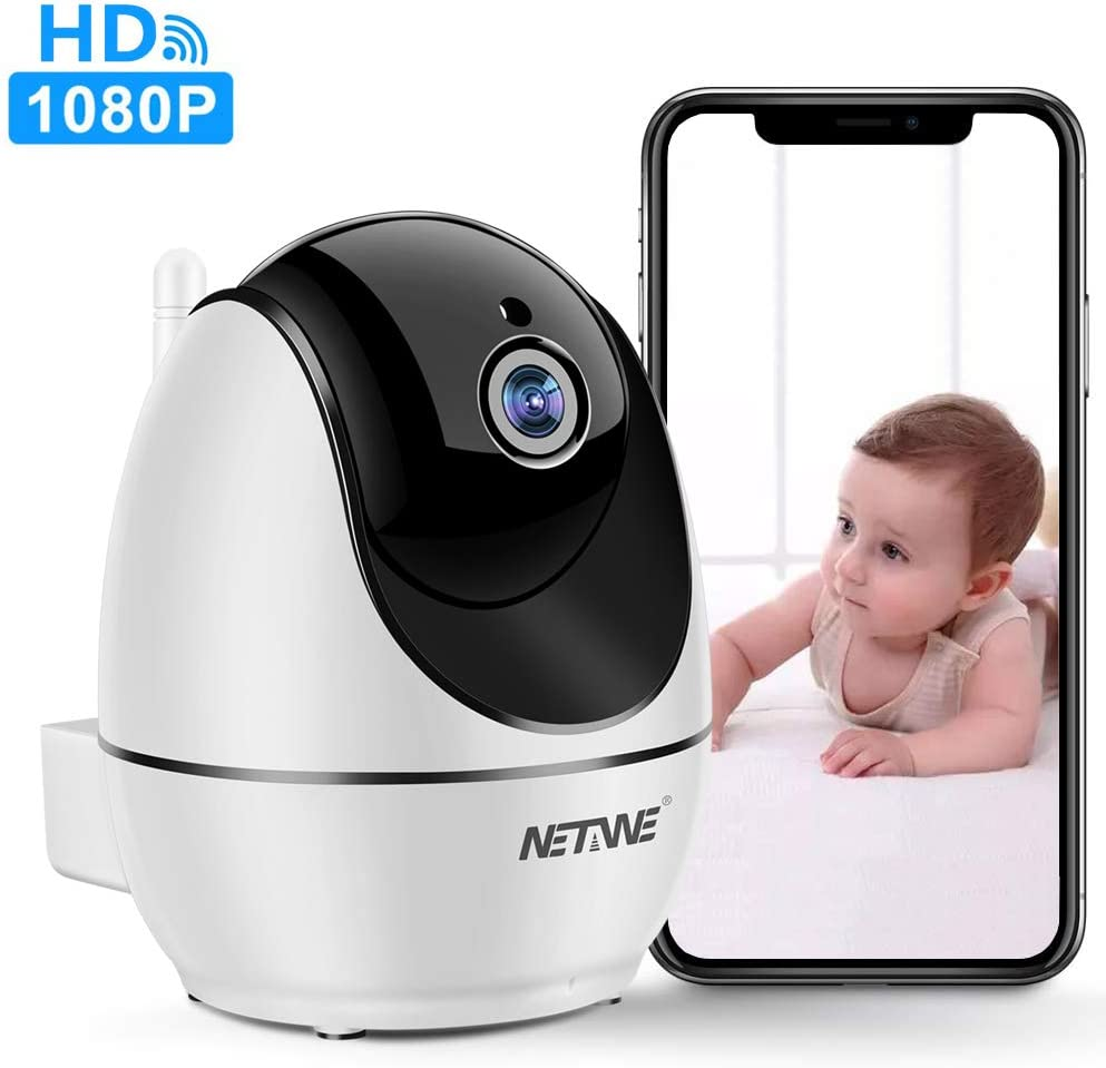 WiFi IP Camera 1080P, Security Camera, Indoor Home Camera for Pet Dog Nanny Baby Monitor, Dome Camera with HD Night Vision, Two-Way Audio and Motion Detection