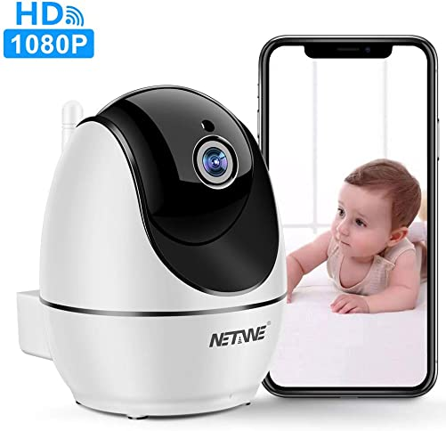 WiFi IP Camera 1080P, Security Camera, Indoor Home Camera for Pet Dog Nanny Baby Monitor, Dome Camera with HD Night Vision, Two-Way Audio and Motion Detection D520