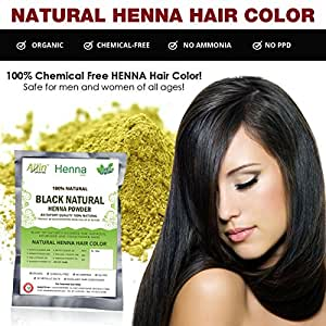 Amazon.com : Allin Exporters Black Henna Hair Color - 100% Organic ...