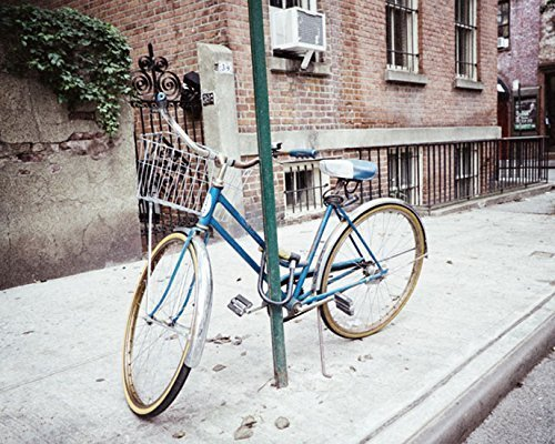 Blue Bicycle picture urban decor 5x7 inch Print