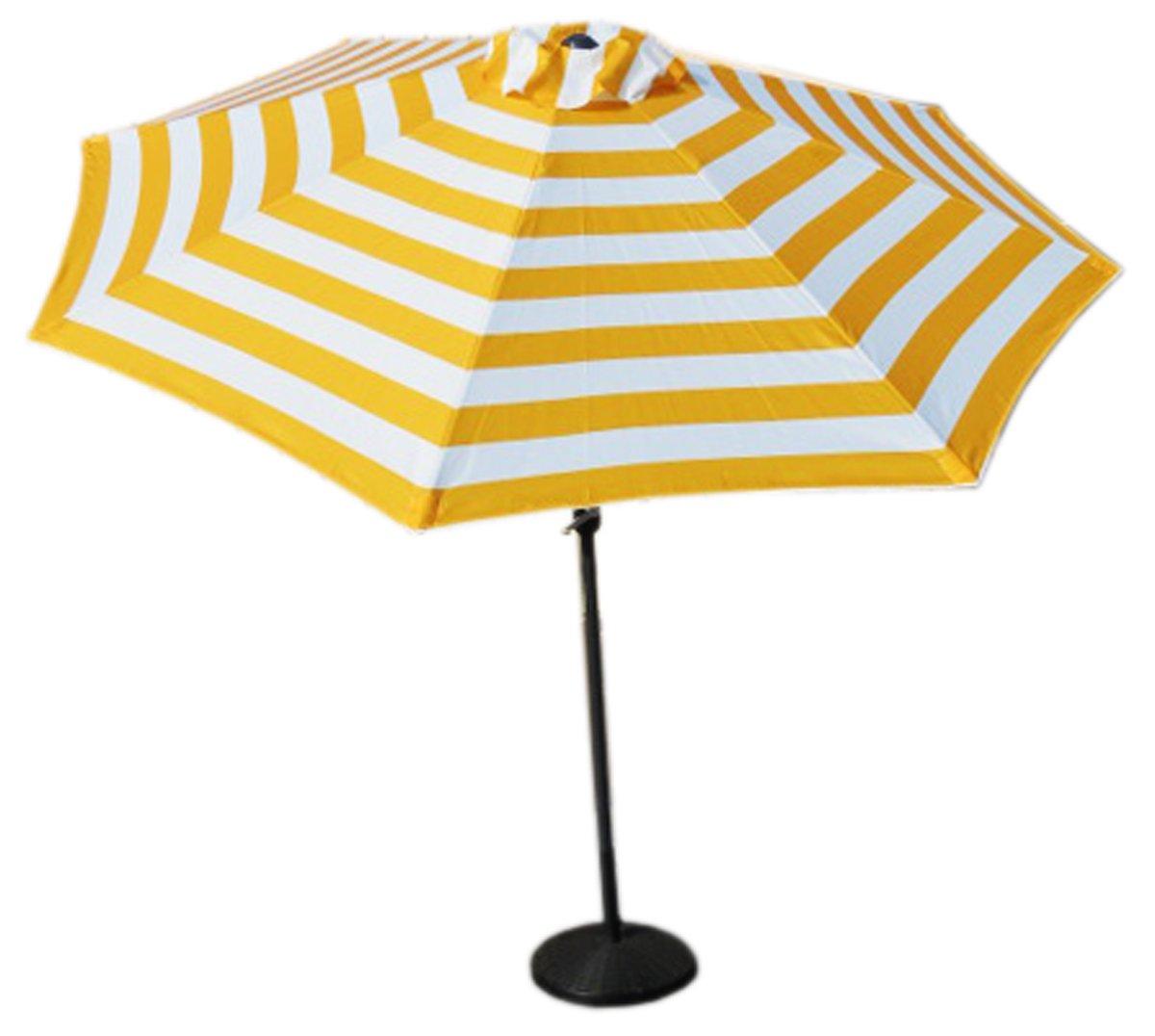 187600724 Amazon.com : VMI M-03581 Striped Umbrella, Large, Yellow : Garden & Outdoor