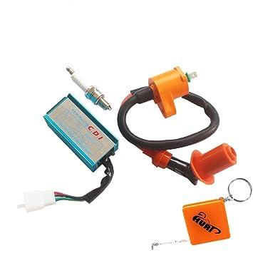huri racing ignition coil spark plug 5pin cdi box for 50cc 70cchuri racing ignition coil spark plug 5pin cdi box for 50cc 70cc 90cc 110cc