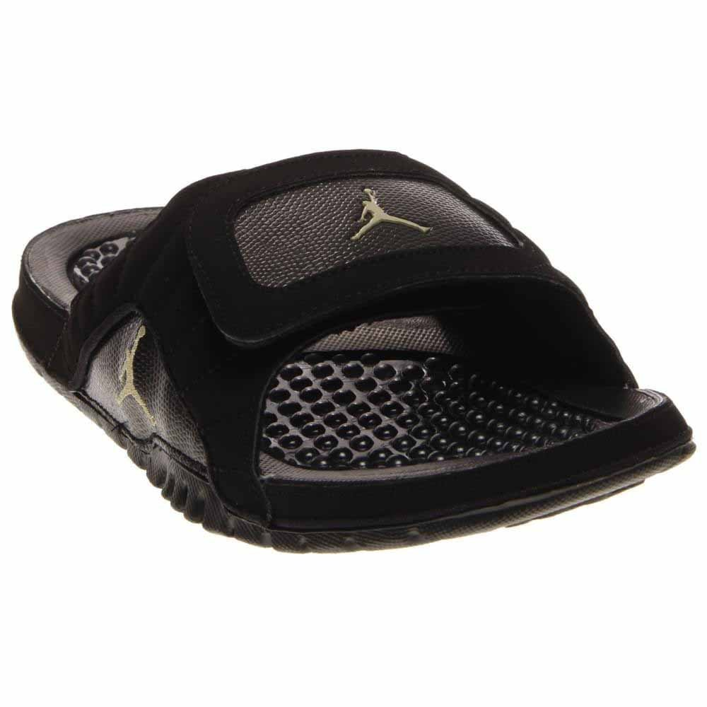 42f261a7a1207a Galleon - Nike Jordan Mens Hydro XII Retro Black Mtlc Gold Star Black Sandal  8 Men US