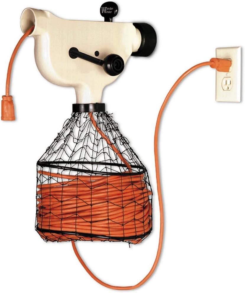 K-100 Carrete De Almacenamiento De Cable Con Soporte Naranja Paquete