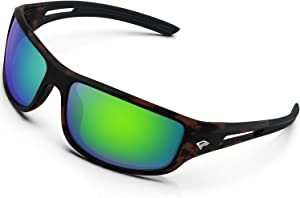 Torege Polarized Sports Sunglasses for Men Women Cycling Running Driving Fishing Golf Glasses Saltwater Resistant TR03