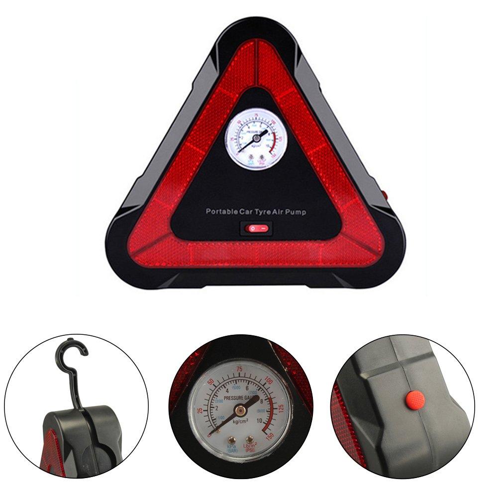 Lifesongs Inflador de neumáticos 4 en 1, 12 V CC, Bombas ...