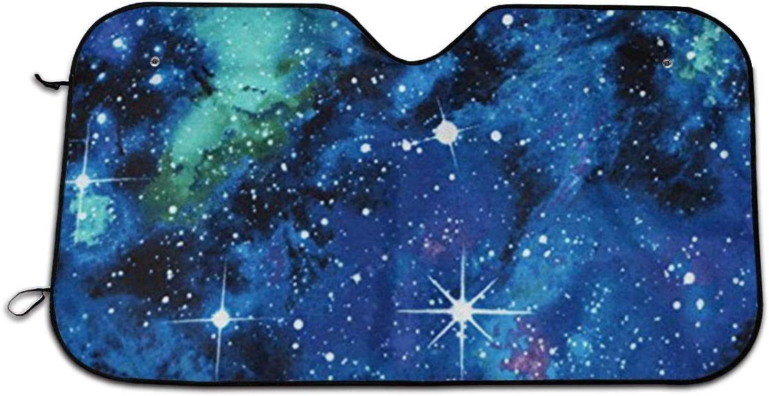 Size 51x27.5 Inch Out of This World Galaxy Auto Front Windshield Sun Shade Car Window Foldable Sunshade Cover Uv Rays Sun Visor Protector and Keeps Your Vehicle Cool