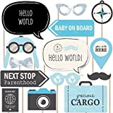 Precious Cargo - Blue - Boy Baby Shower Photo Booth Props Kit - 20 Count