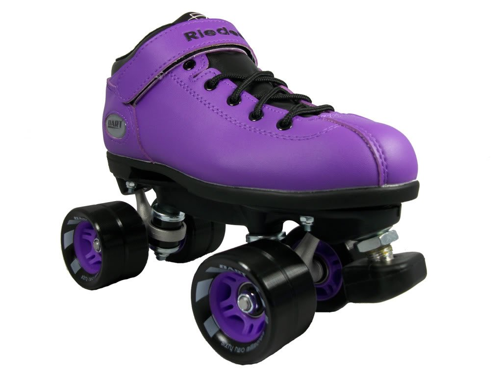 Riedell Dart Skates - Dart Purple Speed Skate - Dart Purple Quad Skate