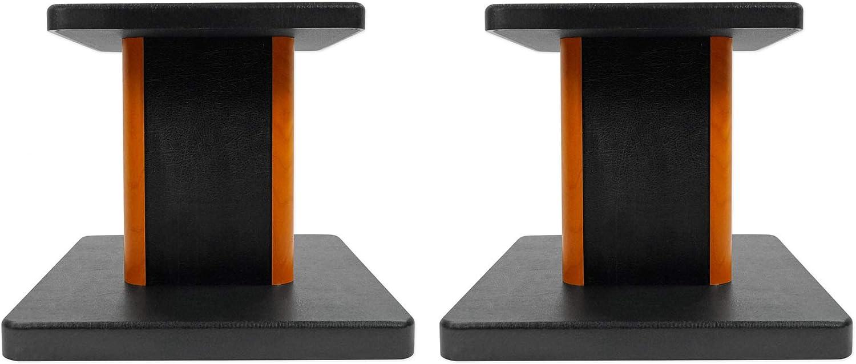 2 Rockville RHT8C Computer/Bookshelf Desktop Speaker/Studio Monitor Stands-Wood