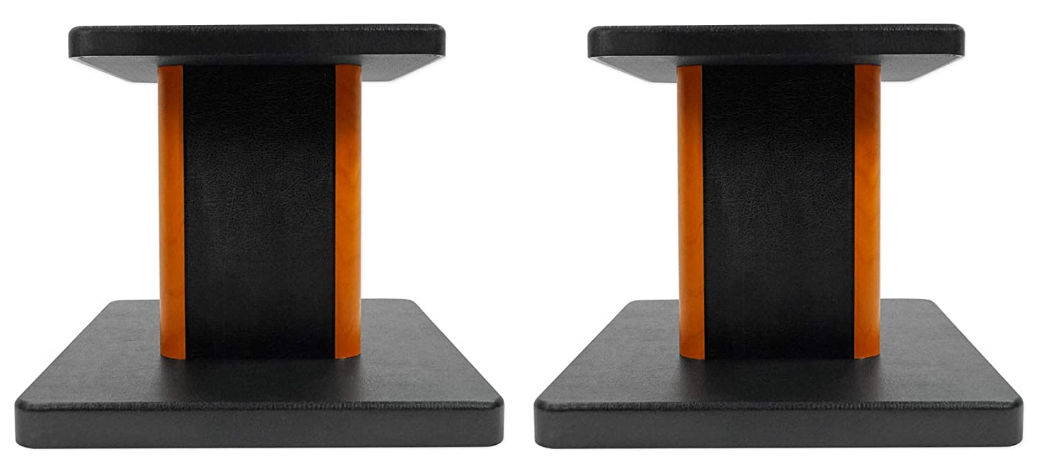 2 Rockville RHT8C Computer/Bookshelf Desktop Speaker/Studio Monitor Stands-Wood 612BU0NnBbpL