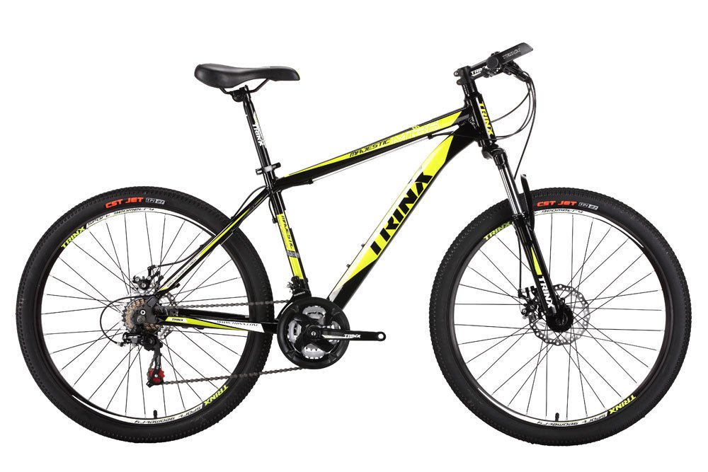 Trinx MTB メンズ マウンテンバイク 26インチ シマノ 21速 M136 19inch イエロー B074SG1Z4F