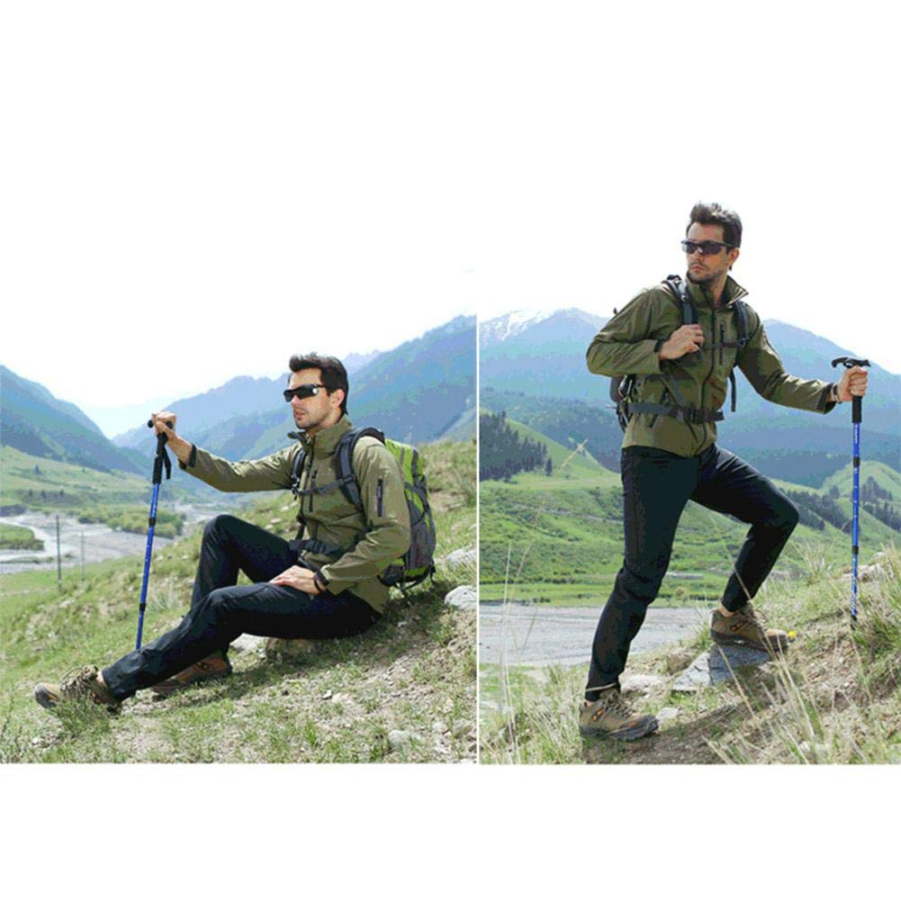 myonly Bastones de esqu/í port/átiles para Senderismo y Senderismo con Sistema de Bloqueo r/ápido y antichoque para Senderismo Trekking Camping mochileros Caminatas monta/ñismo
