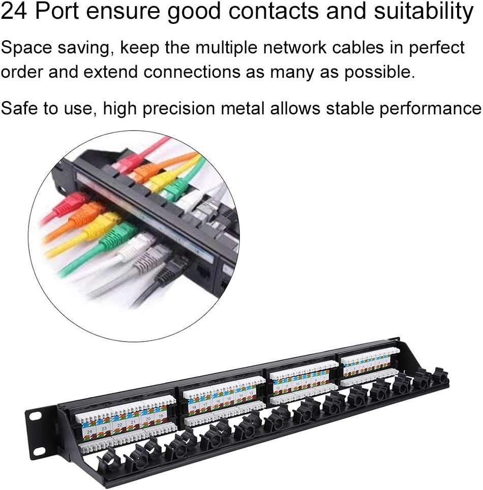 High Quality Cold-rolled Steel Cat6 12-port Patch Panel Network Cable Connector