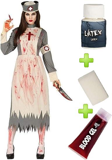 Disfraz de Doctora Zombie con set de caracterizacion: Amazon.es ...