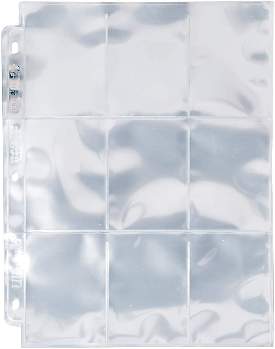 Ultra Pro 9-Pocket Silver Series Page Protector for Standard Size Cards 100ct