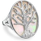 Bling Jewelry Albero della Vita ovale Madreperla Anello Argento 925