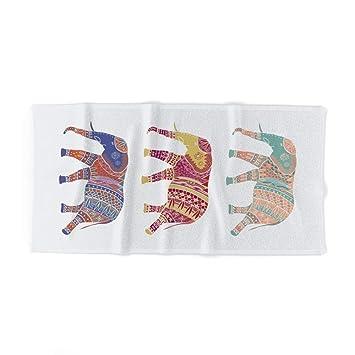 xcvgcxcvasda Tres Elefantes Parte II Toalla de baño 31.5 x 51.2 Pulgadas para Playa, casa, SPA, Piscina, Gimnasio, Viajes, diseño único de patrón: ...