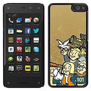 Stuss Case / Funda Carcasa protectora - Vault Boy Family - Funny - Fall0Ut - Amazon Fire Phone