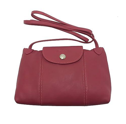 5bcc3fd4c Longchamp Le Pliage Cuir Crossbody, Malabar Pink, OS: Amazon.ca ...