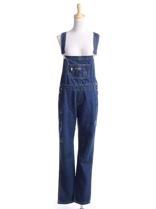 Amazon.com: Anna - Kaci Womens S / M Fit Blue Denim Pocket Button ...
