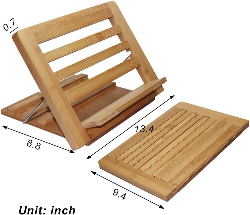 Supporto per libri in bamb/ù 35.5 x 25.5 x 3.2 CM Supporto per libri in bamb/ù.