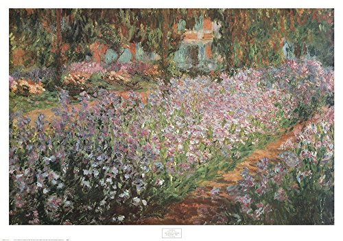 Artist's Garden At Giverny, 1900 by Claude Monet Art Print, 38 x 27 inches (Claude Monet Garden Giverny)