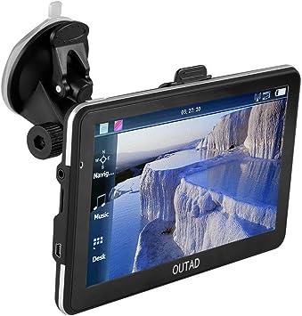 OUTAD Navegación GPS Mapas de Europa 48 Países 7 Pantalla Táctil Mapas 2D/3D Actualización 8GB Incorporado HI-FI Stereo Tarjeta SD 32GB Manual de Usuario Español: Amazon.es: Electrónica