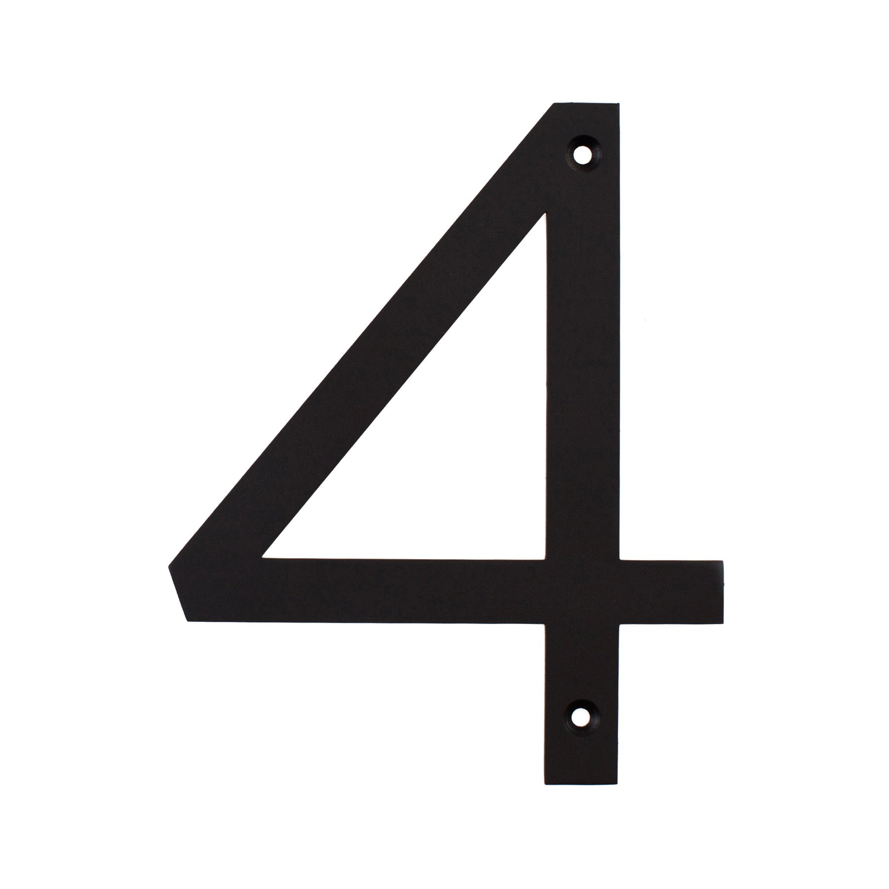 MAYKKE Hugo Stainless Steel House Number 4 | 2 Finishes to Choose from | Matte Black OYA1100401