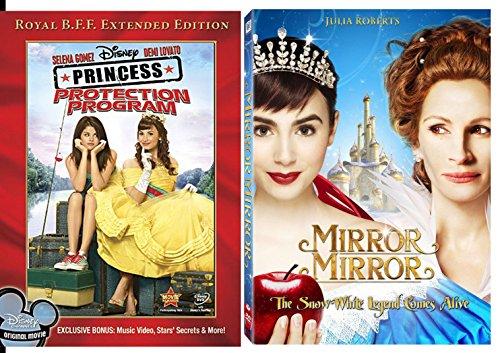 Mirror Mirror & PRINCESS PROTECTION PROGRAM movie DVD Disney Set (2-Pack) movies (Program Protection Dvd Princess)