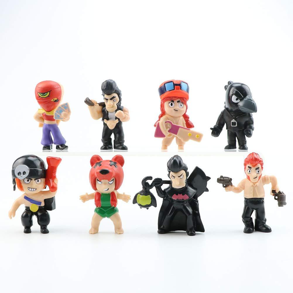 24 Paquets Brawl Stars Jouets avec Carte Pack Star Hero Mod/èle Spike Shelly Colt Leon Poup/ée Nouvel an Cadeau De No/ël pour Les Enfants