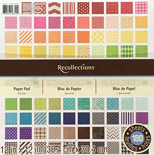 Recollections 12X12 Paper Pad Back to Basics