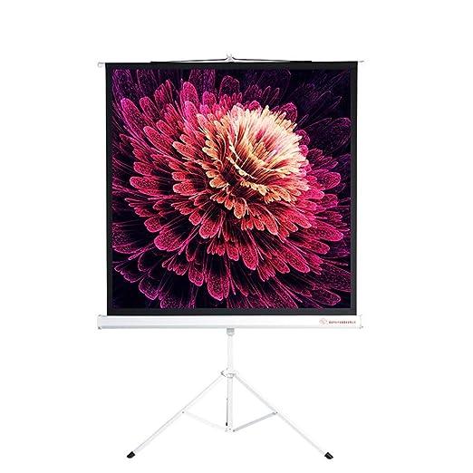 Pantalla de Proyección HD Pantalla proyector con soporte plegable ...