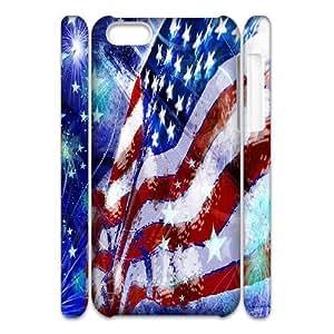HB-P-CASE DIY Design American Flag Pattern Phone Case For iPhone 5C