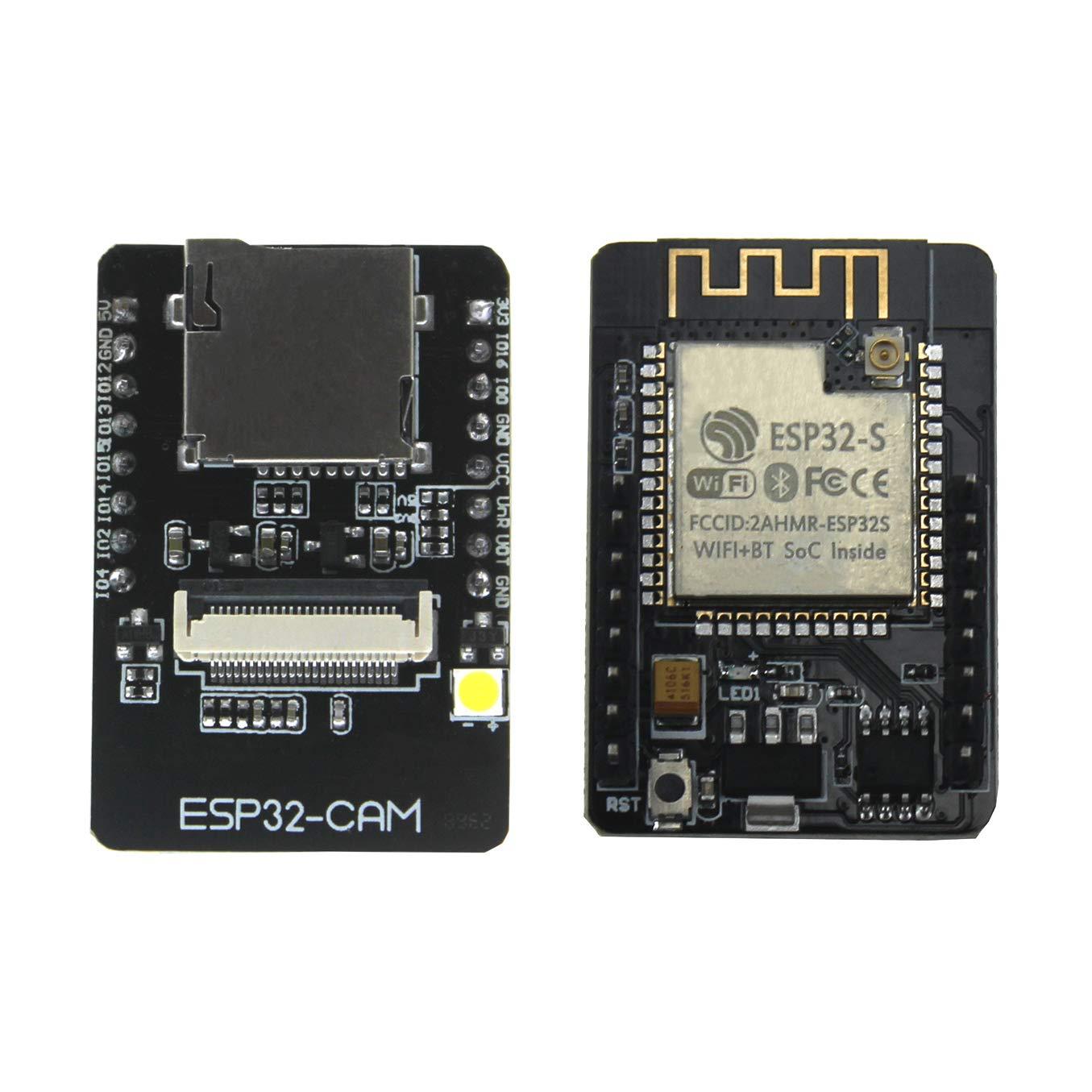 KeeYees 1 Set ESP32-CAM Camera WiFi + Bluetooth Module 4M PSRAM Dual-core  32-bit CPU Development Board with OV2640 2MP Camera Module Support Image