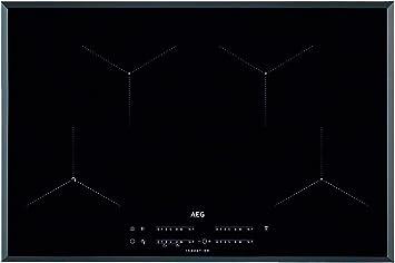 AEG IAE84431FB Placa inducción, Biselada, Extraplana de 4 zonas, Asistente de cocción, Función Pausa, Calentamiento rápido, Conexión con campana compatible,Control táctil deslizante, Negro, 80 cm: 664.48: Amazon.es: Hogar