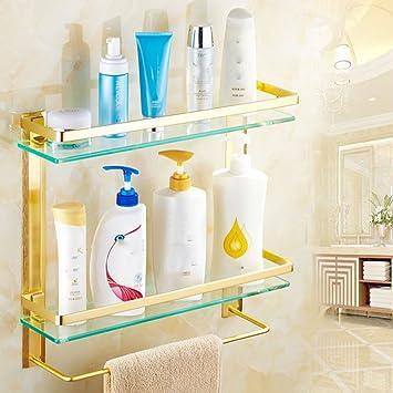 Zhihui Armarios altos ZZHF yushizhiwujia Estante Baño Estante de Vidrio Vidrio Templado Estante de baño Espejo