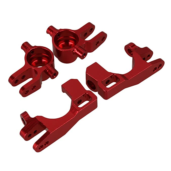 2x Red SLA002//003 Steering Hub+Front C-Hub Carrier for RC1:10 TRAXXAS SLASH /& HQ