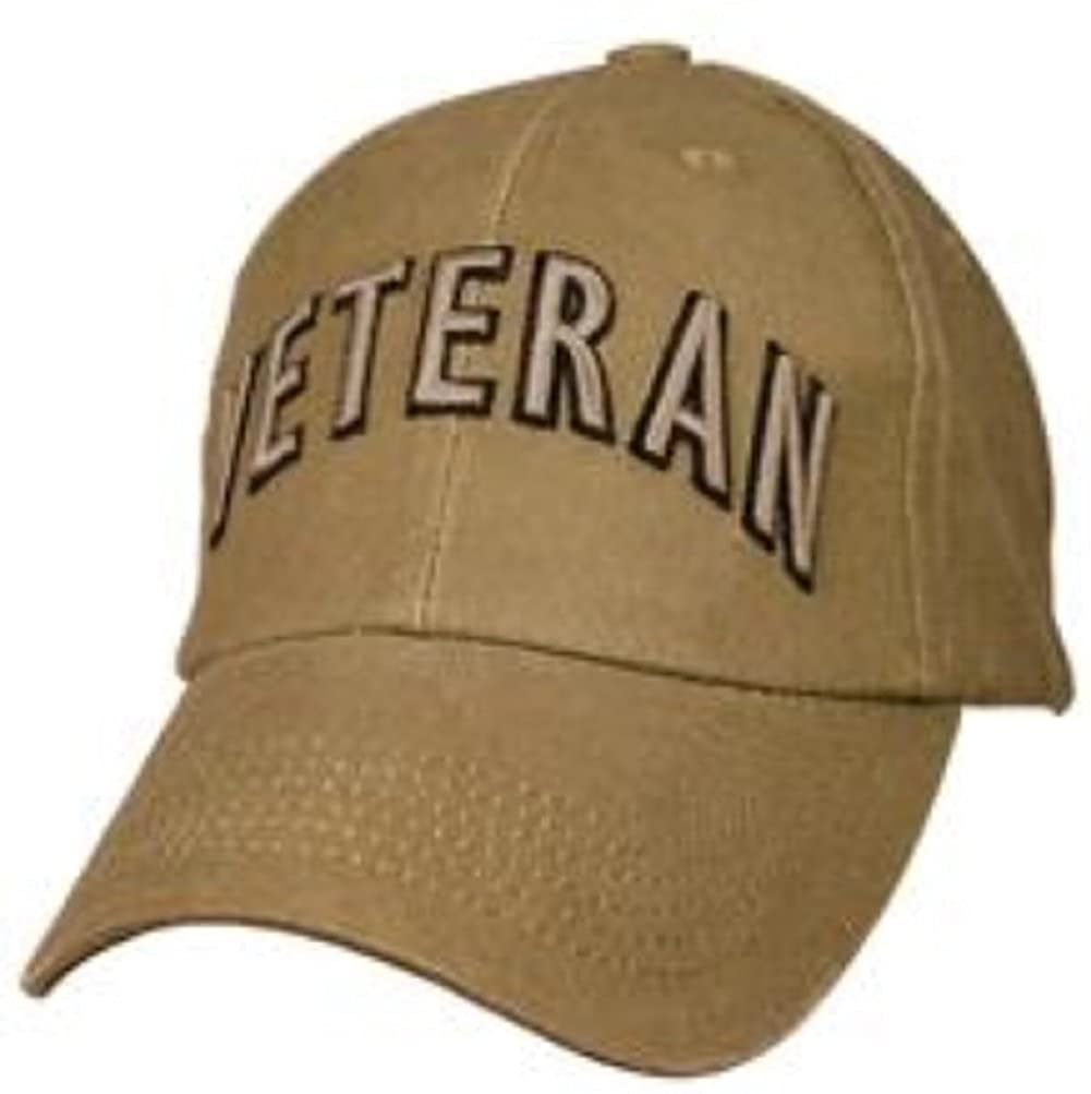 Amazon.com  Eagle Crest Veteran American Flag Washed Coyote Brown Cap   Clothing 8d3bea97f25d