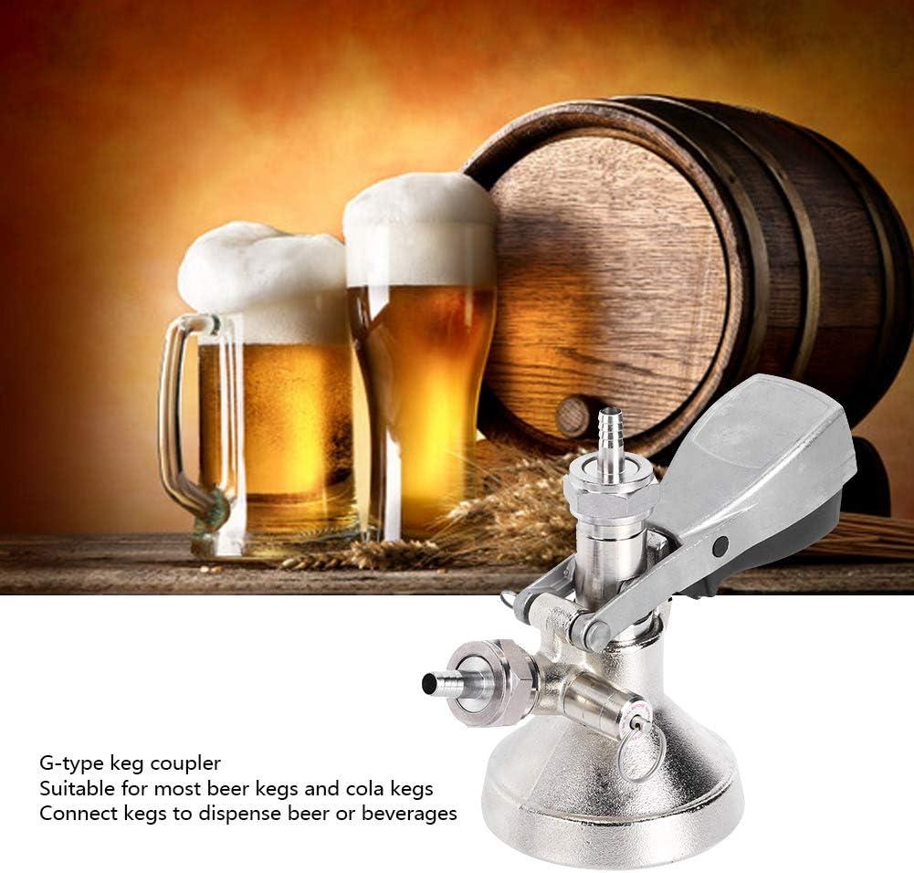 OKBY Coupler Beer Keg-Stainless Steel G Type Keg Coupler Beer Dispenser Connector Dispensing Equipment for Beer Keg