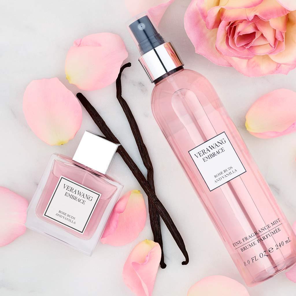 Vera Wang Embrace Body Mist for Women Rose Buds and Vanilla Scent 8 Fluid Oz Body Mist Spray