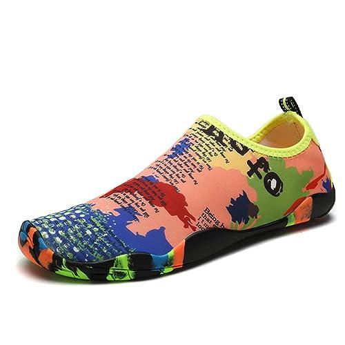 2242e72e3 DoGeek Escarpines Antideslizante Zapato de Agua Zapatos de Playa Escarpines  Calzado de Playa Surf
