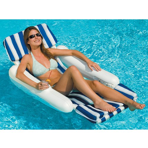(10010 SunChaser Swimming Pool Padded Floating Luxury Chair Lounger )