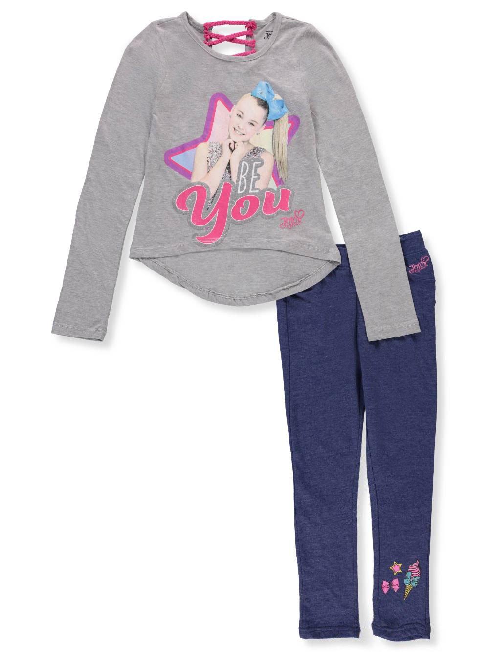 Jojo Siwa Girls' 2-Piece Pants Set Outfit