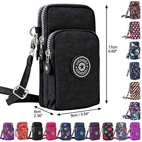 Purse Layers Purple Womens Wristlet Mini Handbag Wocharm Crossbody 3 Shoulder Messenger Orchids wztdx