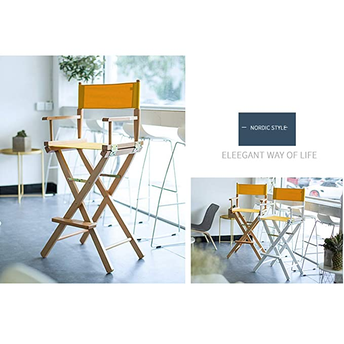 LP Bar stool Silla Plegable Maquillaje de telescopio de Lona ...