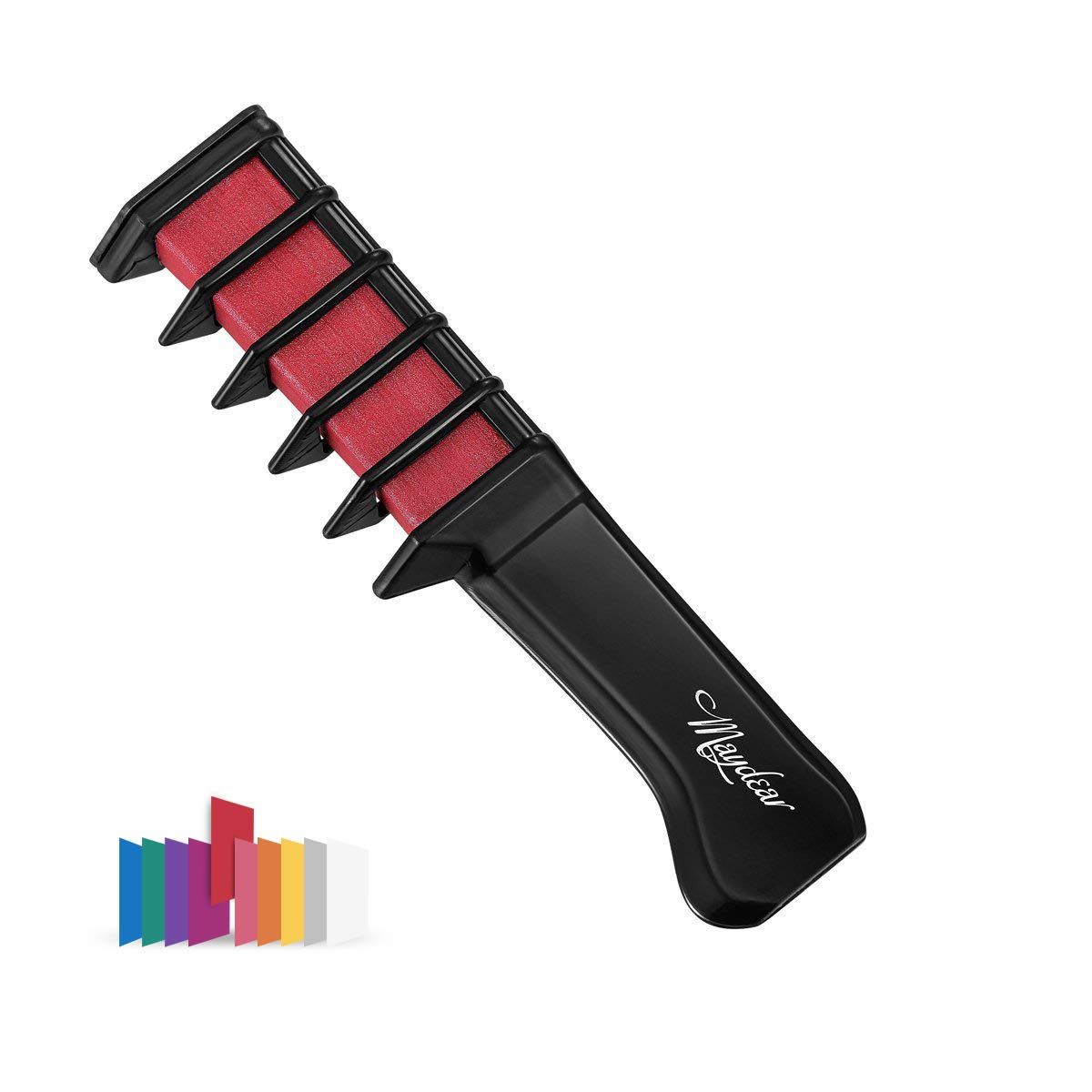 Maydear Temporary Hair Chalk Comb - Non Toxic Hair Color Comb and Safe for Kids (9 Color Options) (Purple)