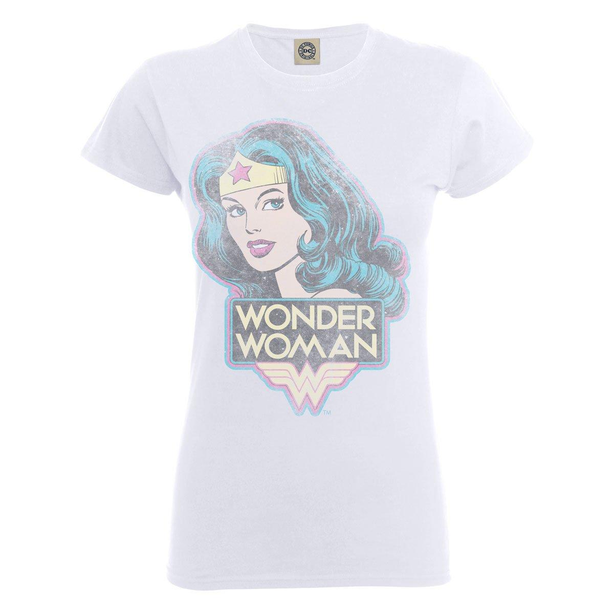 DC Comics Official Wonder Woman Retro Womens T-Shirt Maglietta Donna