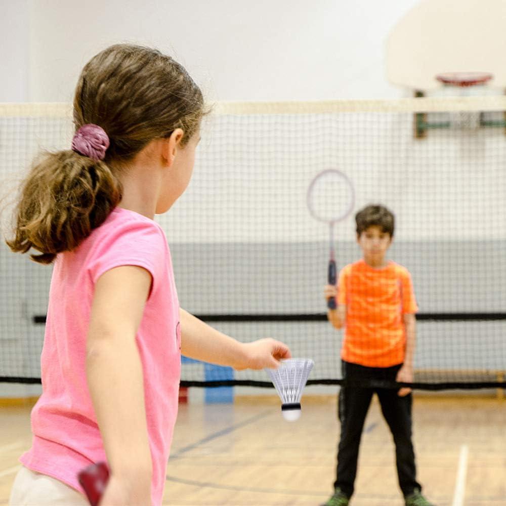 4 raquetas de b/ádminton con dos volantes para ni/ños y adultos Trounistro Juego de b/ádminton con red kit completo de b/ádminton ideal para juegos familiares al aire libre